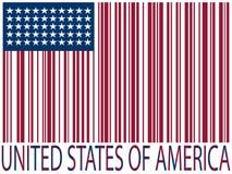 De streepjescodesvlag van Verenigde Staten Stock Foto's