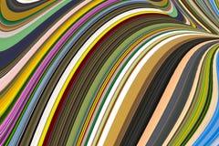 De strepen fantasie van de achtergrondkleurengolf mengen kleuren groene oker Royalty-vrije Stock Foto