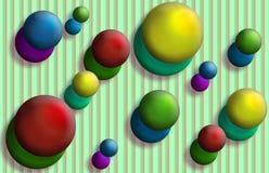 De Strepen van ballen Stock Foto's