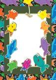 De Strijd Card_eps van vissen Stock Foto's