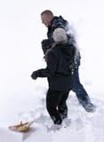 De Strijd van de Bal van de sneeuw Stock Foto's