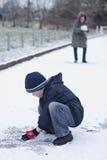 De strijd van de sneeuw royalty-vrije stock fotografie