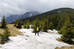 De strijd van de sneeuwbal Stock Foto's