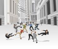 De strijd van de straat vector illustratie