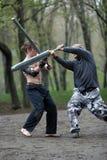 De strijd van het zwaard stock fotografie