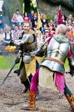 De strijd van het zwaard Royalty-vrije Stock Afbeeldingen
