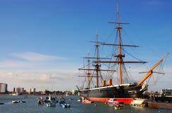 De Strijder HMS, bouwde 1860 in Royalty-vrije Stock Foto's