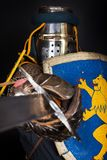 De strijder is tijdens strijd Royalty-vrije Stock Fotografie