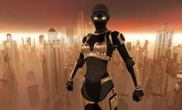 De strijder van Cyborg vector illustratie
