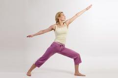 De strijder van de yoga stelt Royalty-vrije Stock Foto's