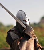 De strijder van Viking met zwaard. Royalty-vrije Stock Afbeeldingen