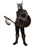 De Strijder van Viking van de Stijl van de fantasie Royalty-vrije Stock Foto's