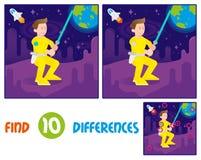 De strijder vindt 10 verschillen royalty-vrije illustratie