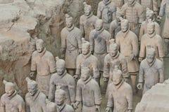 De Strijders van het terracotta stock afbeeldingen