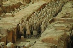 De Strijders van het terracotta, Xian Stock Foto's