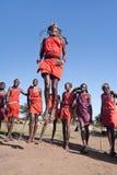 De strijders van Maasai Royalty-vrije Stock Fotografie
