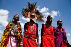 De strijders van Masai Royalty-vrije Stock Foto's