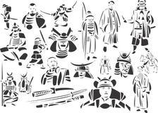 De Strijders van samoeraien royalty-vrije illustratie