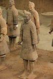 De strijders van Terracota - Xian China Royalty-vrije Stock Afbeeldingen