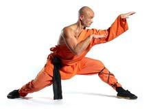 De strijdersmonnik van Shaolin Stock Foto's