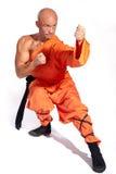De strijdersmonnik van Shaolin Stock Afbeeldingen