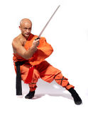 De strijdersmonnik van Shaolin Stock Fotografie