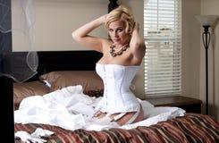 De Striptease van de bruid Stock Foto's