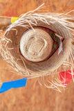 De strohoed backgropound is een symbool van het Saint John-festival in Noordoosten van Brazilië royalty-vrije stock afbeeldingen