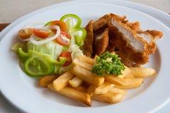De stroken en de gebraden gerechtencombo van de kip Royalty-vrije Stock Afbeelding