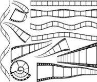 De stroken van de film Stock Afbeelding