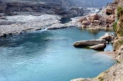 De stromen van de de riviercanion van Xi'anjinghe royalty-vrije stock afbeeldingen