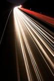 De Stromen van het verkeerslicht Stock Foto