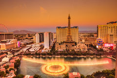 De Strook en Bellagio van Las Vegas fonteinen royalty-vrije stock foto