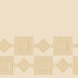 De strook naadloze patronen met samenvatting schilderden vierkanten Stock Afbeelding