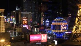 De Strook tijd-Tijdspanne van Las Vegas stock videobeelden