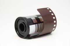 De strook van de film in broodje Royalty-vrije Stock Afbeelding