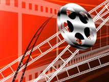 De strook van de film en broodje, de technologie van de Bioskoop Royalty-vrije Stock Afbeelding