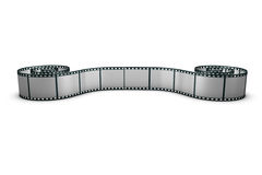 De strook van de film op de vloer Royalty-vrije Stock Foto