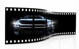 De Strook van de Film van de sportwagen Stock Afbeelding
