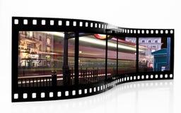 De Strook van de Film van het Onduidelijke beeld van de bus Royalty-vrije Stock Afbeelding