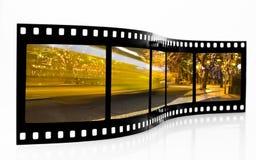 De Strook van de Film van het Onduidelijke beeld van de bus Stock Afbeeldingen