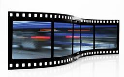 De Strook van de Film van het Onduidelijke beeld van de snelheid Stock Afbeeldingen