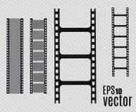 De Strook van de film Vector illustratie reeks Royalty-vrije Stock Foto's