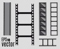 De Strook van de film Vector illustratie reeks Royalty-vrije Stock Fotografie