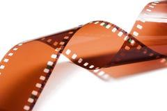 De strook van de fotofilm op wit wordt geïsoleerd dat stock afbeeldingen