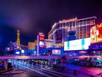 De Strook van Las Vegas bij Nacht - Nevada, de V.S. stock foto