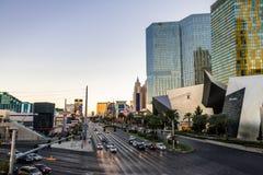 De Strook van Las Vegas bij zonsondergang - Las Vegas, Nevada, de V.S. stock foto