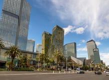 De Strook van Las Vegas en Aria Hotel en Casino - Las Vegas, Nevada, de V.S. stock foto's