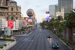 De Strook van Las Vegas in Maandag middag royalty-vrije stock fotografie