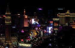 De strook van Las Vegas, Nevada bij nacht royalty-vrije stock afbeelding